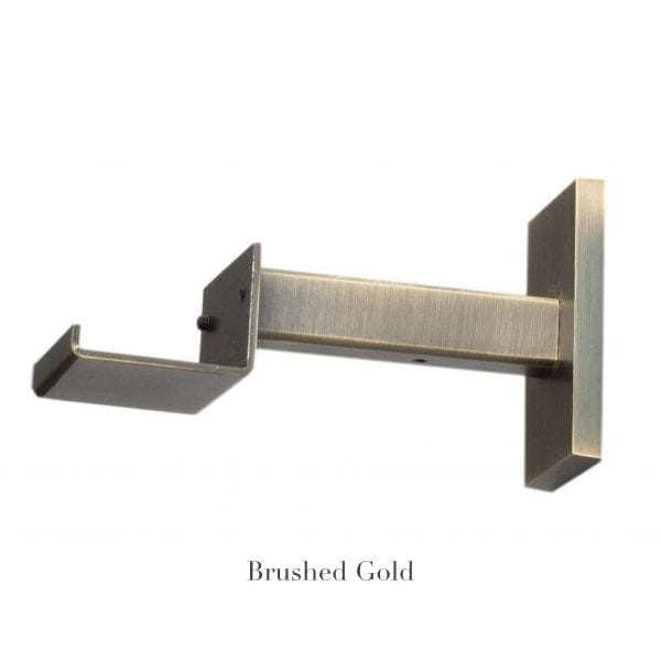 "Willow Bloom Home 4 3/4"" Bypass Bracket Brushed Gold"