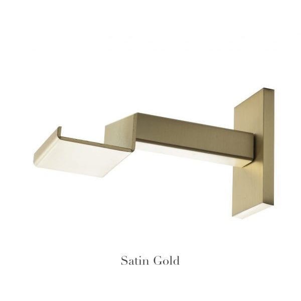 "Willow Bloom Home 4 3/4"" Bypass Bracket Satin Gold"