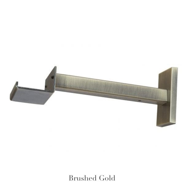 """Willow Bloom Home 7"""" Bypass Bracket Brushed Gold"""