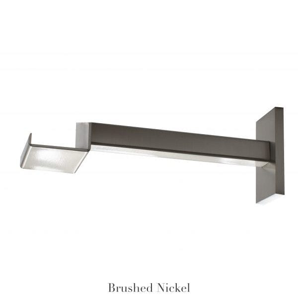 """Willow Bloom Home 7"""" Bypass Bracket Brushed Nickel"""
