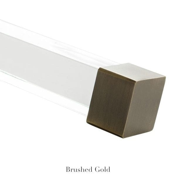 Willow Bloom Home Cube Endcap Finial Brushed Gold