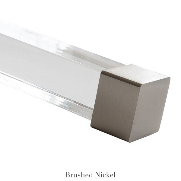 Willow Bloom Home Cube Endcap Finial Brushed Nickel
