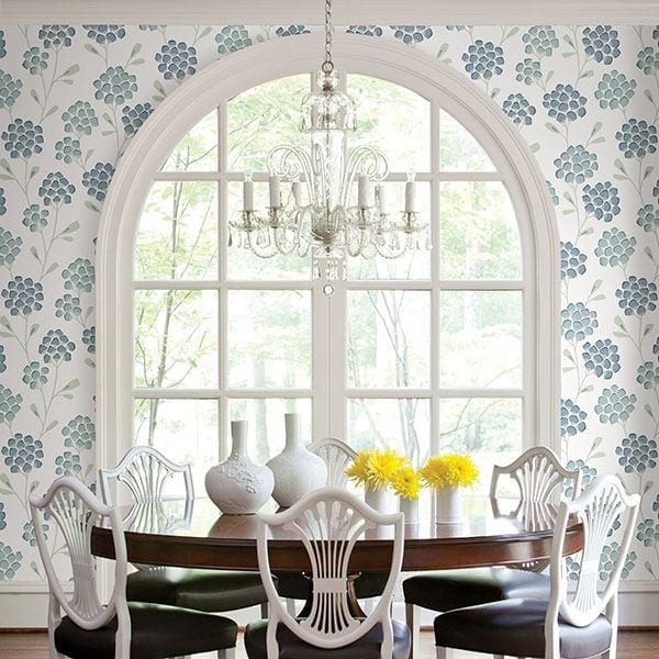 Willow Bloom Home Coraline Aqua Wallpaper