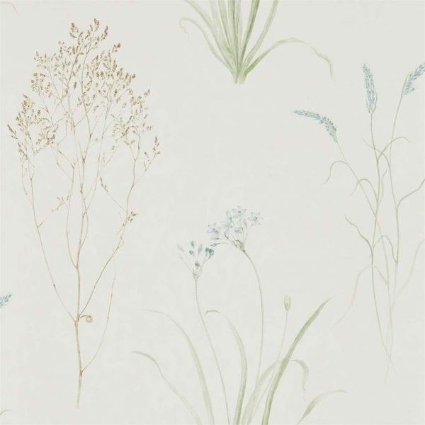 Willow Bloom Home Grasses Cream:Sage Wallpaper