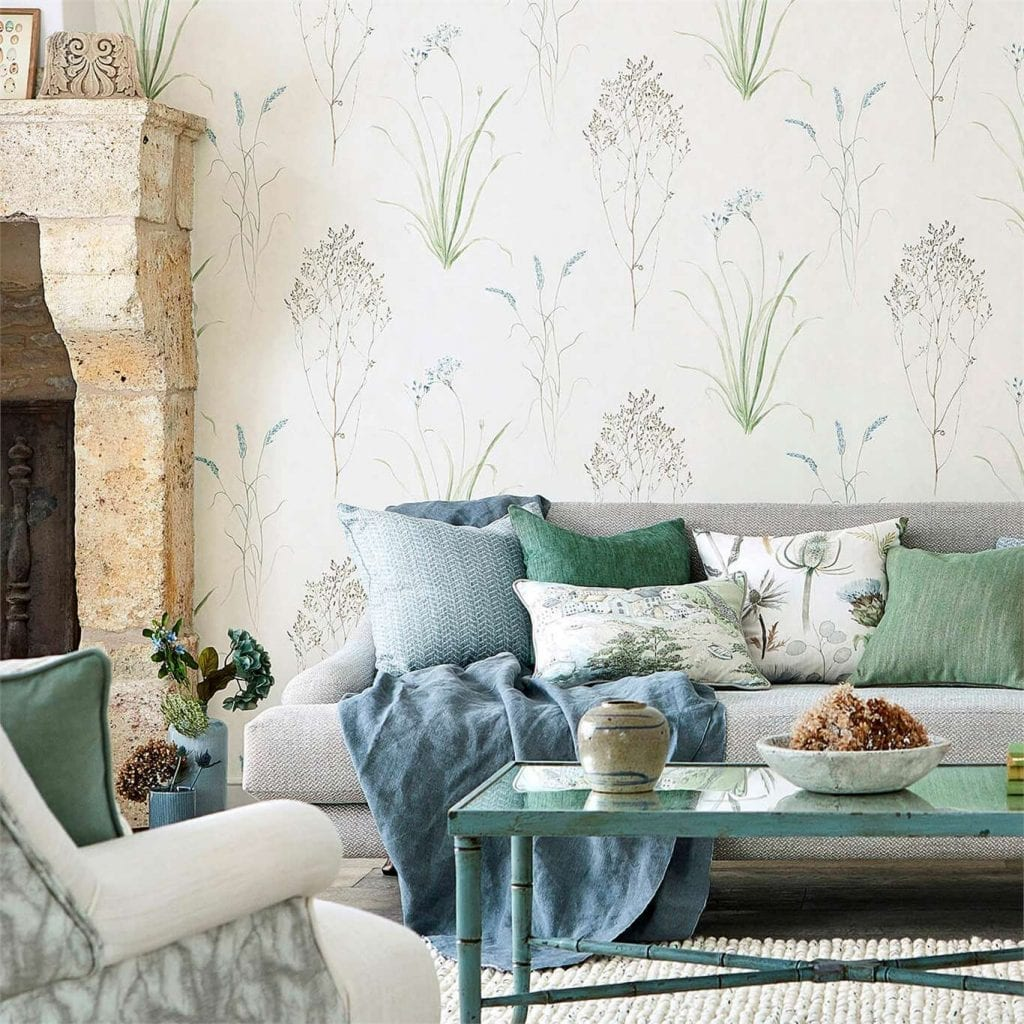 Willow Bloom Home Grasses Wallpaper