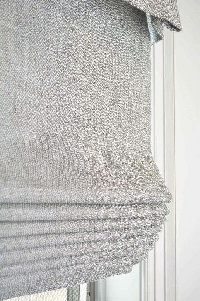 Willow Bloom Home Harper Silver Roman Shade