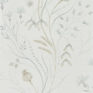 Harvest Silver:Chalk Wallpaper