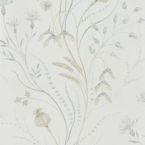 Harvest Silver:Chalk Wallpaper