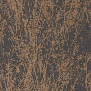 Willow Bloom Home Meadow Bronze:Charcoal Wallpaper