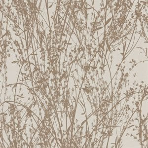 Willow Bloom Home Meadow Gilver:Linen Wallpaper