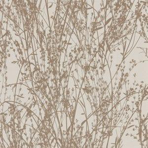 Willow Bloom Home Meadow Gilver:Linen Wallpaper