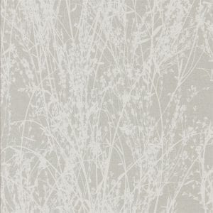 Willow bloom Home Meadow White:Grey Wallpaper