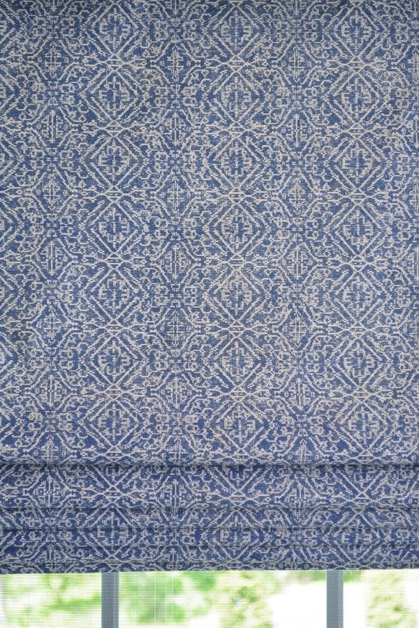 Willow Bloom Home Azuri Blue Roman Shade