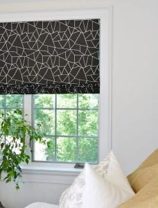 Willow Bloom Home Miro Onyx Romans Shade