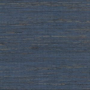 Concord Indigo Grasscloth Wallpaper
