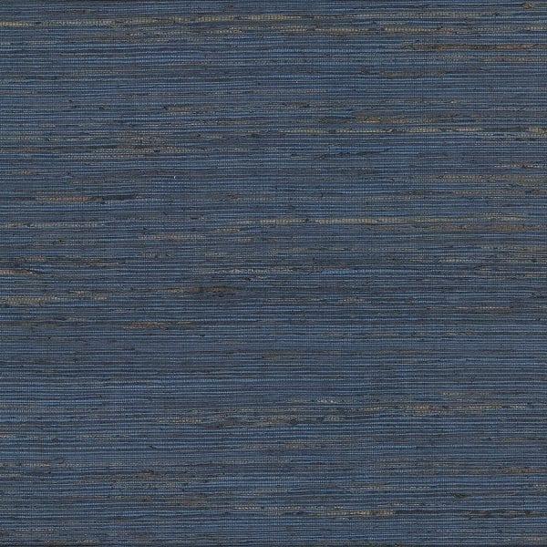 Concord Indigo Grasscloth Wallpaper