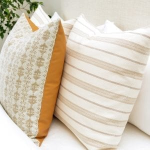 Willow Bloom Home Byron Wheat and Morelo Pillows