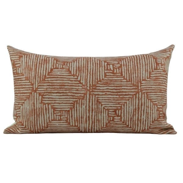 Willow Bloom Home Emerson Burnt Orange Lumbar Pillow