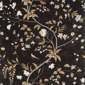 Willow Bloom Home Chambalon Antique Gold:Vine Black
