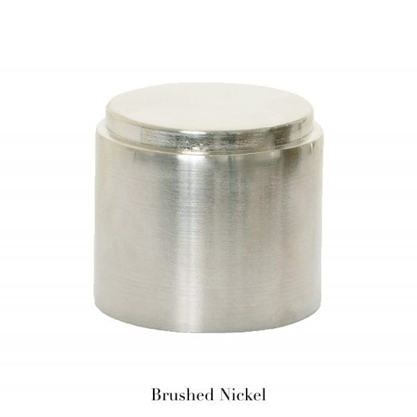 Willow Bloom Home End Cap - Brushed Nickel
