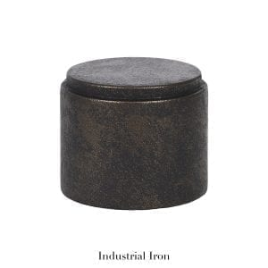 Willow Bloom Home End Cap - Industrial Iron
