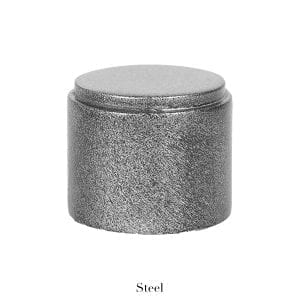 Willow Bloom Home End Cap - Steel