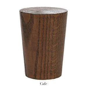 Willow Bloom Home Wood Fluted Finial - Cafe