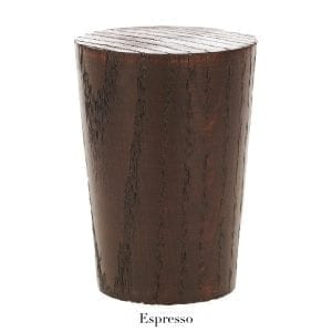 Willow Bloom Home Wood Fluted Finial - Espresso