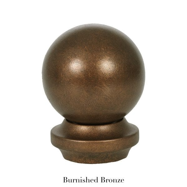 Willow Bloom Home Metal Ball Finial Burnished Bronze