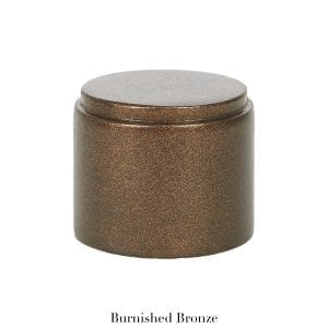 Willow Bloom Home Metal End Cap Burnished Bronze