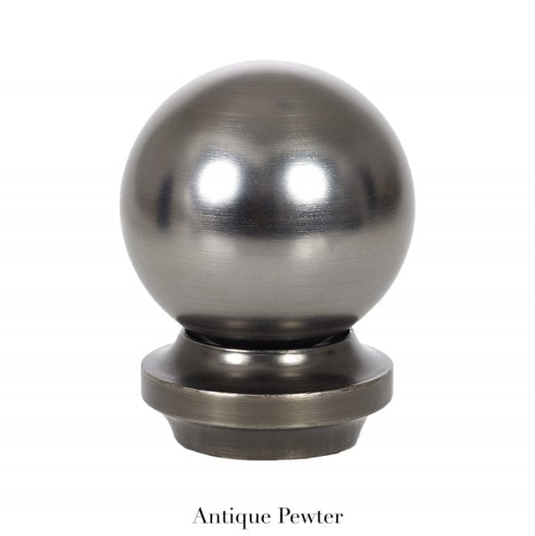 Willow Bloom Home Metal Ball Finial - Antique Pewter