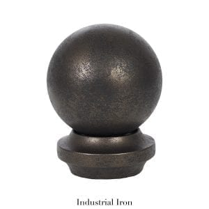 Willow Bloom Home Metal Ball Finial - Industrial Iron