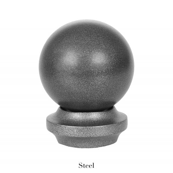 Willow Bloom Home Metal Ball Finial - Steel