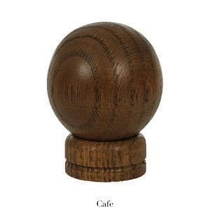 Willow Bloom Home Wood Ball Finial - Cafe