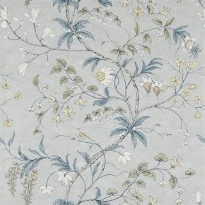 Willow Bloom Home Chambalon Mercury:Platinum Grey Wallpaper