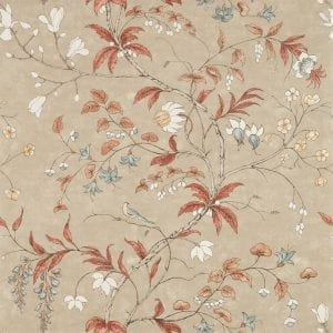 Willow Bloom Home Chambalon Sunstone:Linen Wallpaper