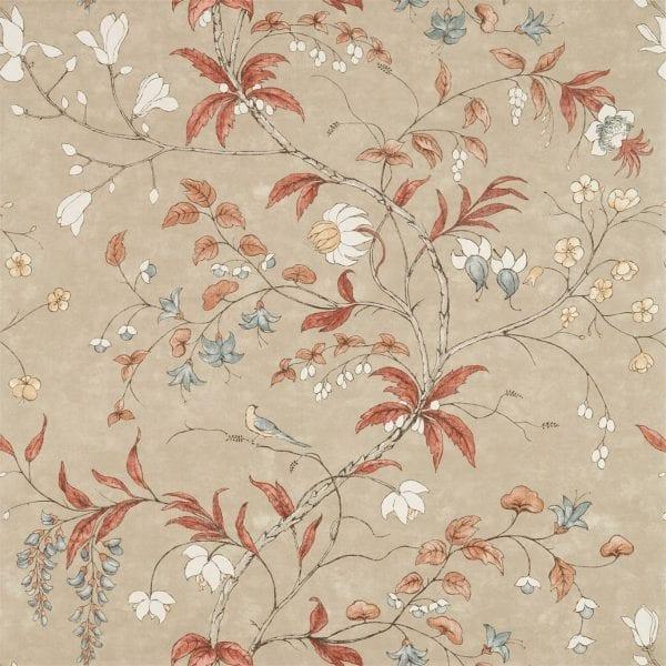 Willow Bloom Home Chambalon Sunstone:Linen Wallpaper