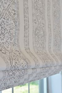 Willow Bloom Home Henley Stripe Pewter Roman Shade