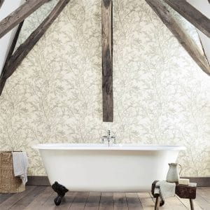 Willow Bloom Home Woodland Silver Wallpaper
