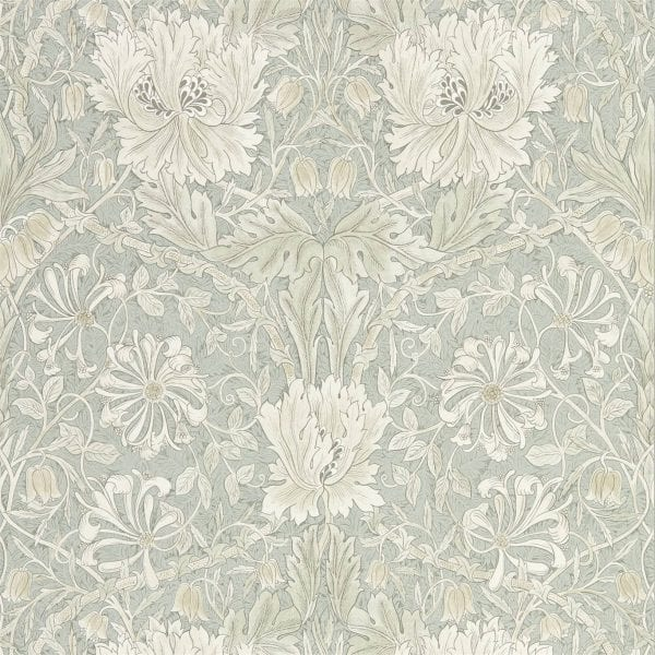 Willow Bloom Home Florine Grey:Blue Wallpaper