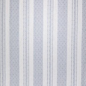 Willow Bloom Home Maira Stripe Cornflower Roman Shade