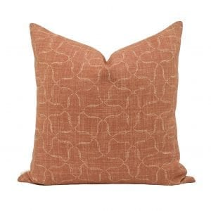 Willow Bloom Home Nola, Rust Pillow