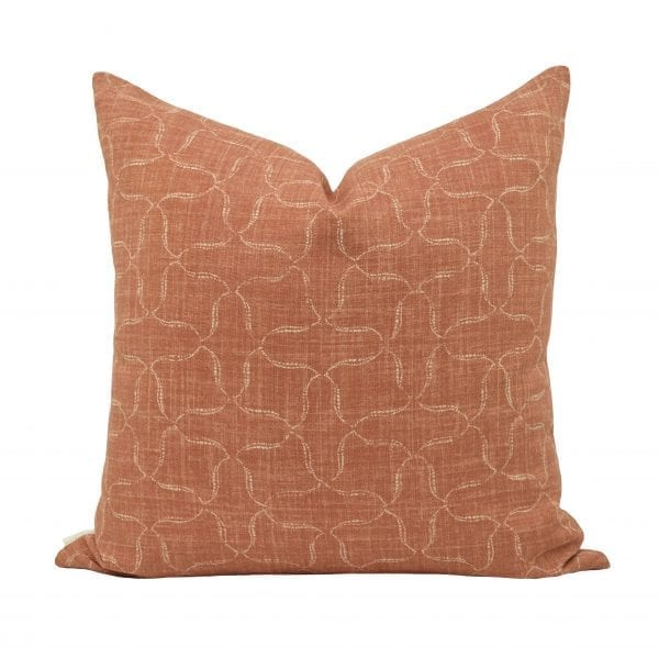 Willow Bloom Home Nola, Rust Pillow
