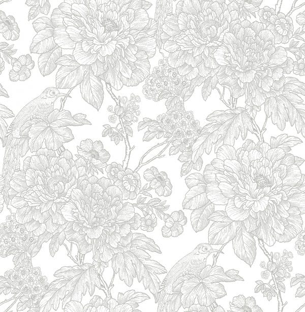 Willow Bloom Home Ava Grey Wallpaper