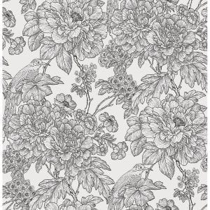 Willow Bloom Home Ava Noir Wallpaper