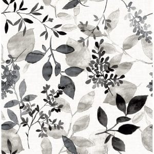 Willow Bloom Home Olivia Black Wallpaper