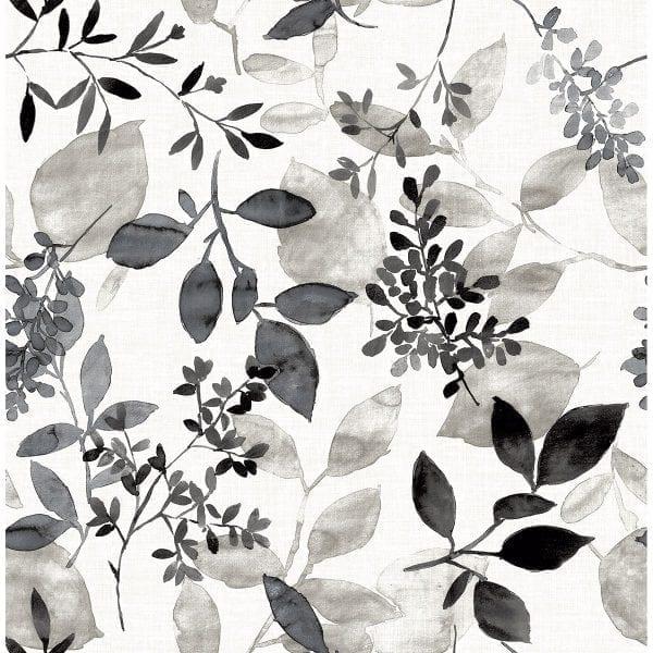 Willow Bloom Home Olivia Black Wallpaper
