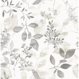 Willow Bloom Home Olivia Grey Wallpaper