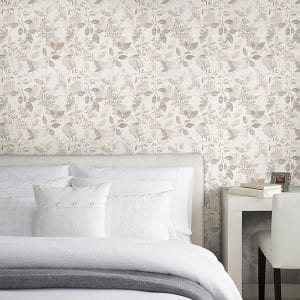 Willow Bloom Home Olivia Taupe Wallpaper