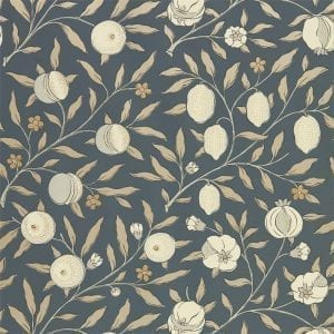 Willow Bloom Home Verbena Black Ink Wallpaper